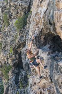 Brad Weimert Climbing Cayman Brac